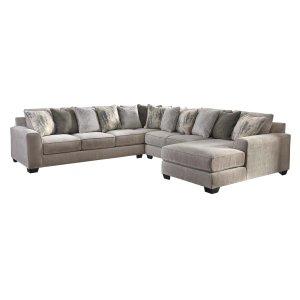 Ashley Furniture Ardsley - Pewter 4 Piece Sectional