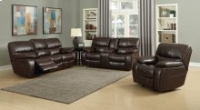 Banner Brown Leather Gel Reclining Loveseat