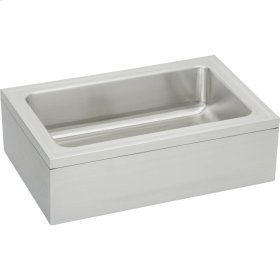 "Elkay Stainless Steel 33"" x 21"" x 8"" Single Bowl, Floor Mount Service Sink Package"