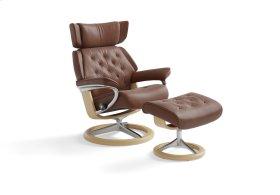 Stressless Skyline Medium Signature Base Chair and Ottoman