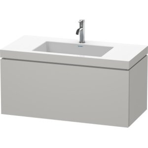 Furniture Washbasin C-bonded With Vanity Wall-mounted, Concrete Gray Matt Decor