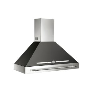 "Bertazzoni48"" Canopy Hood Black use with K48HERX14 purchased separately"