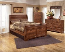 Timberline Queen Sleigh Bedroom Group: Queen Sleigh Bed, Nightstand, Dresser & Mirror