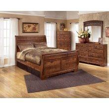 Timberline Queen Sleigh Bedroom Set: Queen Sleigh Bed, Nightstand, Dresser & Mirror