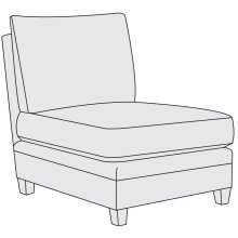 Sorenson Armless Chair in Mocha (751)