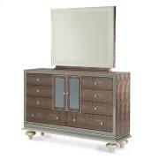 Upholstered Dresser & Mirror Product Image