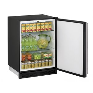 "U-Line1000 Series 24"" Solid Door Refrigerator With Stainless Solid Finish and Field Reversible Door Swing (115 Volts / 60 Hz)"
