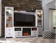 Willowton - White Wash 5 Piece Entertainment Set