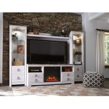 Willowton - Whitewash 5 Piece Entertainment Set