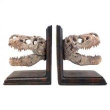 T-Rex Skulls Bookends Set
