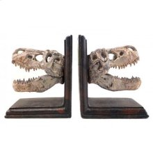 T-Rex Skulls Bookends Set