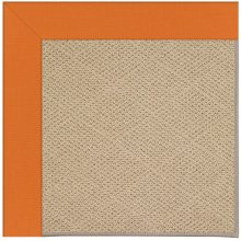 Creative Concepts-Cane Wicker Canvas Tangerine Machine Tufted Rugs