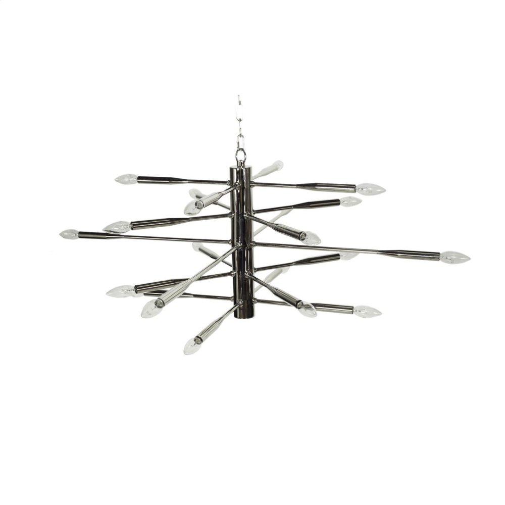Nickel Sputnik Chandelier Featuring 20 Sockets for Bulbs