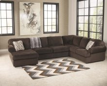 5 Piece Sectional Group - Jessa Place 3 Piece Sectional with Area Rug and Ottoman