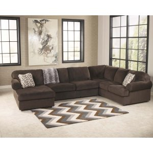 Ashley Furniture Jessa Place - Chocolate 3 Piece Sectional