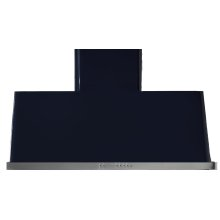 """Gloss Black with Stainless Steel Trim 36"""" Range Hood with Warming Lights"""