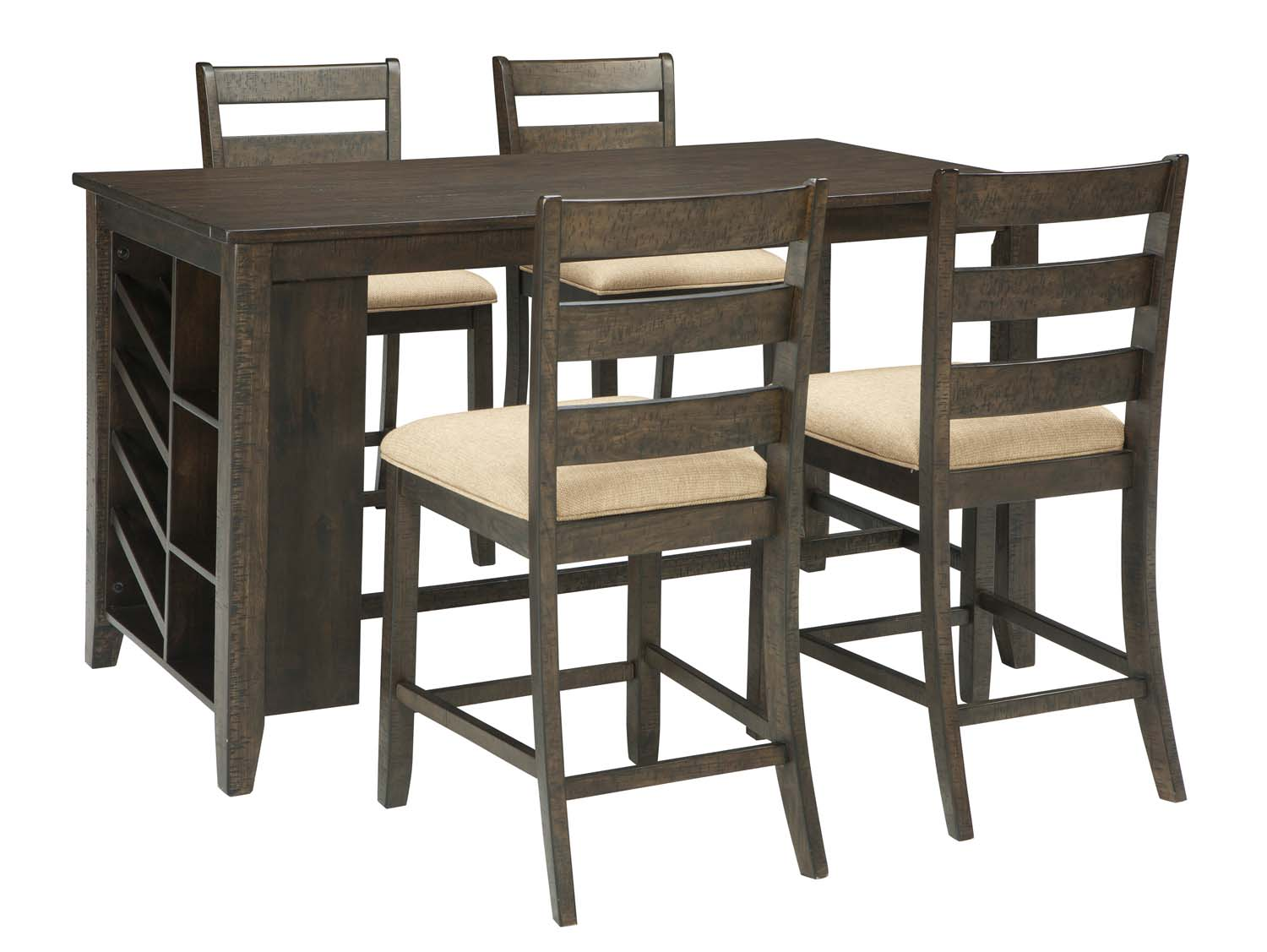 3 piece dining room set modern rokane brown piece dining room set d397d3 in by ashley furniture san jose ca