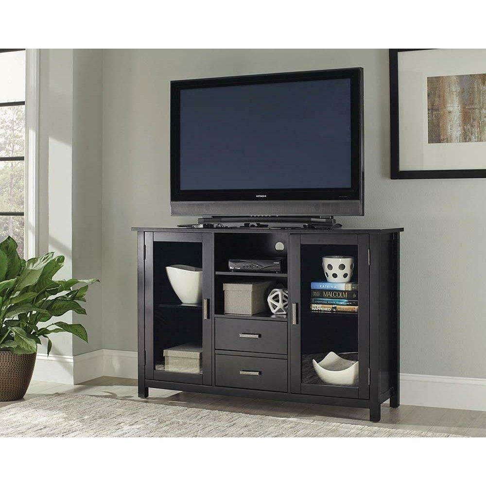 Trista Transitional Black TV Console