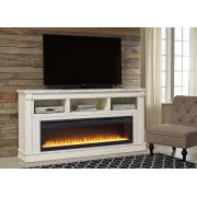 Becklyn - Chipped White 2 Piece Entertainment Set Product Image