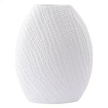 Urchin Round Vase Lg White