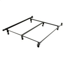 Inst-A-Matic PC761R Double Angle Center Support Bed Frame with Headboard Brackets and (6) 2-Inch Locking Rug Rollers, Queen