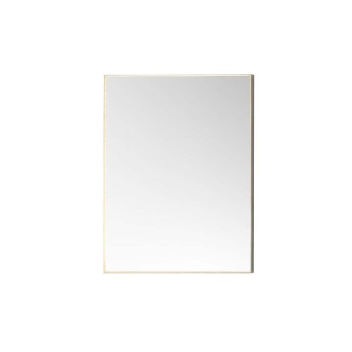 "Contemporary 23"" x 30"" Metal Framed Bathroom Mirror w/LED Light Border in Brushed Nickel"