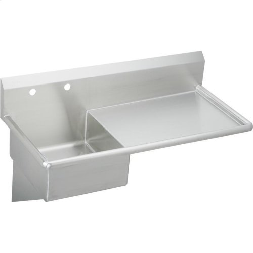 "Elkay Stainless Steel 49-1/2"" x 24"" x 10, Wall Hung Service Sink"