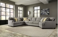 Cresson - Pewter Left Loveseat, Right Cuddler, Wedge, Armless Sofa