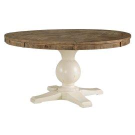 Grindleburg - White/Light Brown Dining Room Table