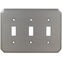 Triple Traditional Switchplate in (US15 Satin Nickel Plated, Lacquered)