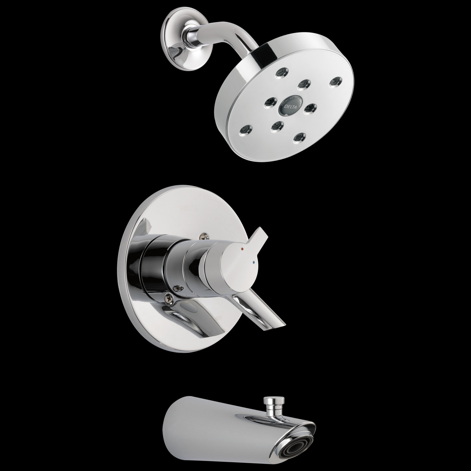 Chrome Monitor ® 17 Series H2Okinetic ® Tub & Shower Trim