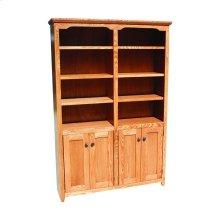 """Shaker Alder 48"""" 2-Door Bookcase"""