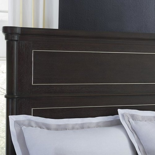 Queen/French Grey Martinique Panel Bed