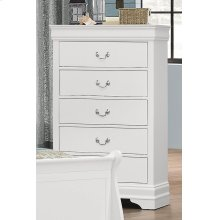 Bianco White LP 5 Drawer Chest