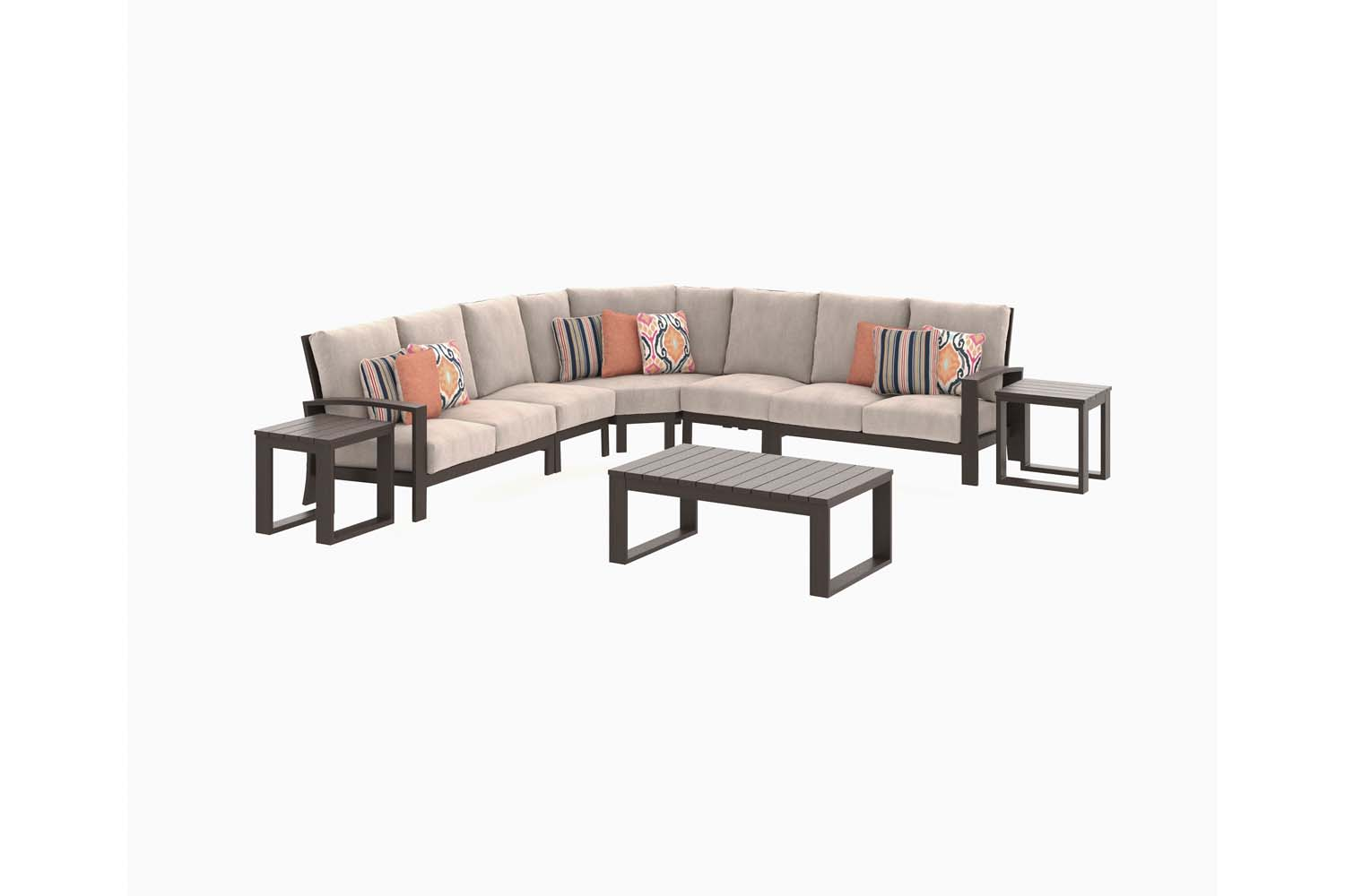 Cordova Reef   Dark Brown 5 Piece Patio Set