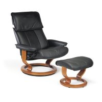 Stressless Admiral Large Classic Base Chair and Ottoman Product Image