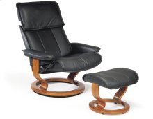 Stressless Admiral Large Classic Base Chair and Ottoman