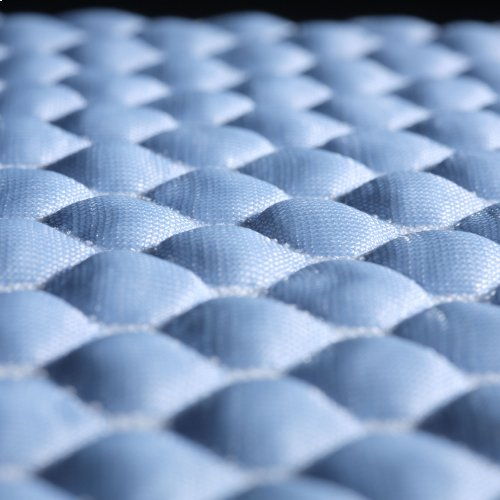 Sleep Chill + Crystal Gel Mattress Protector with Cooling Fibers and Blue 3-D Fabric, King