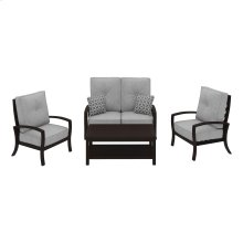 Castle Island - Dark Brown 4 Piece Patio Set