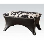 Black Pu Bench W/fabric Seat Product Image