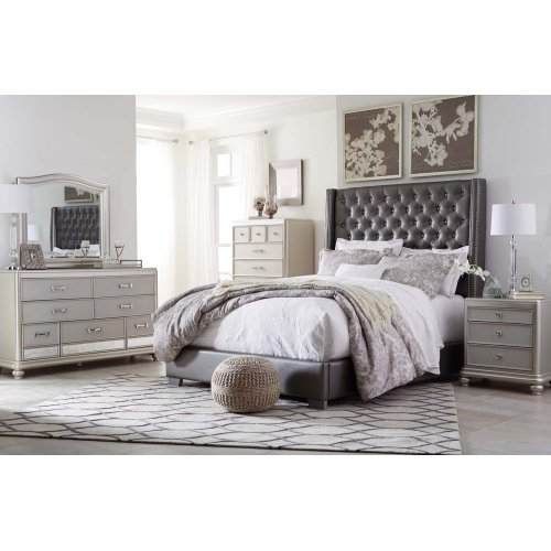 Coralayne - Silver 2 Piece Bedroom Set