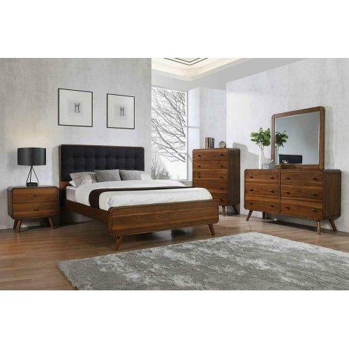Robyn Mid-century Modern Dark Walnut Eastern King Bed