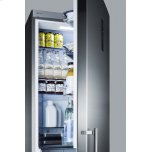 Summit Energy Star Certified European Counter Depth Bottom Freezer Refrigerator With Stainless Steel Doors, Platinum Cabinet, and Digital Controls for Each Section