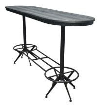 Oval Bar Height Table