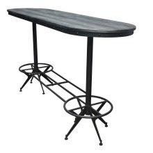 Oval Bar Height Table