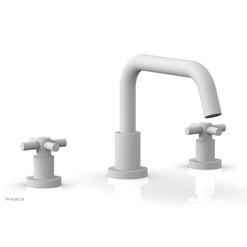 BASIC Deck Tub Set - Tubular Cross Handles D1136D - Satin White
