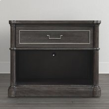 French Grey Martinique Open Nightstand