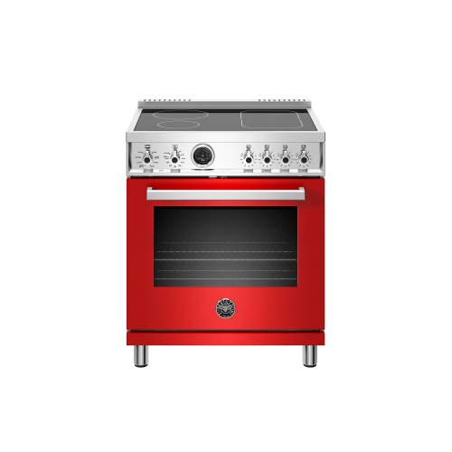 30 inch Induction Range, 4 Heating Zones, Electric Self-Clean Oven Rosso