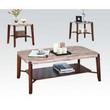 Sq. Marble 3pc Pk C/e Tables