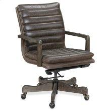 Home Office Langston Executive Swivel Tilt Chair w/ Metal Base